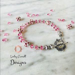 Jewelry - SOLD! Light Rose Swarovski Crystal Bracelet